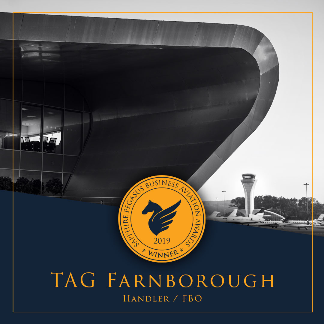 SPBAA 2019 Winner - Handler - TAG Farnborough