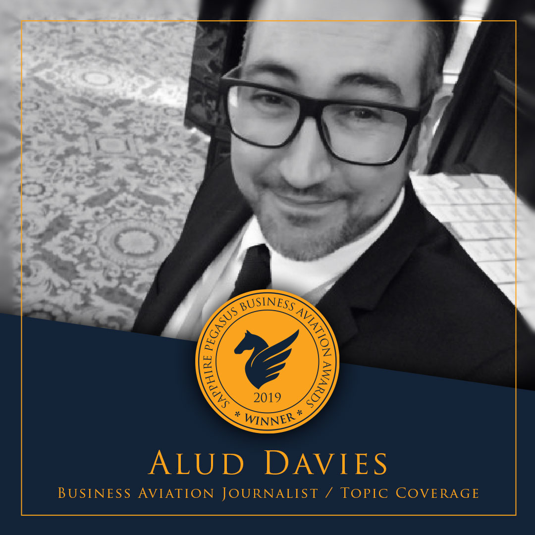 SPBAA 2019 Winner – Business Aviation Journalist / Topic Coverage – Alud Davies