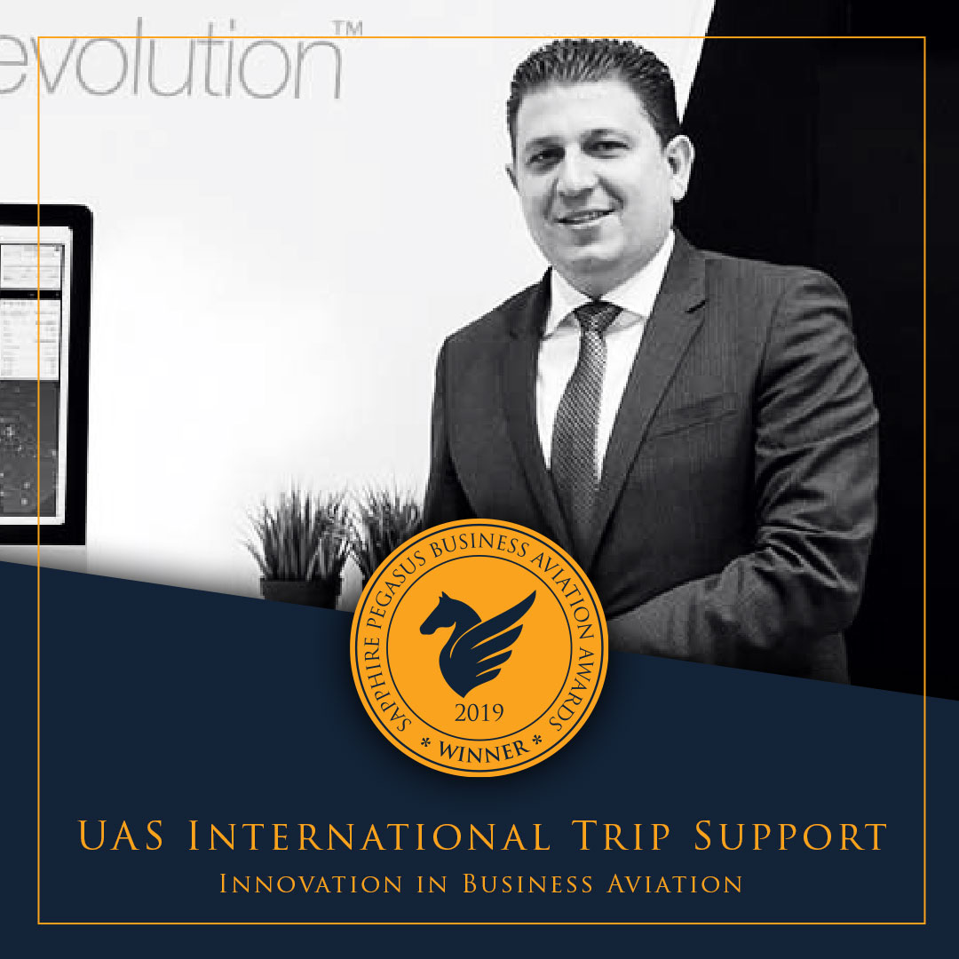 SPBAA 2019 Winner - Innovation in Business Aviation - UAS International Trip Support
